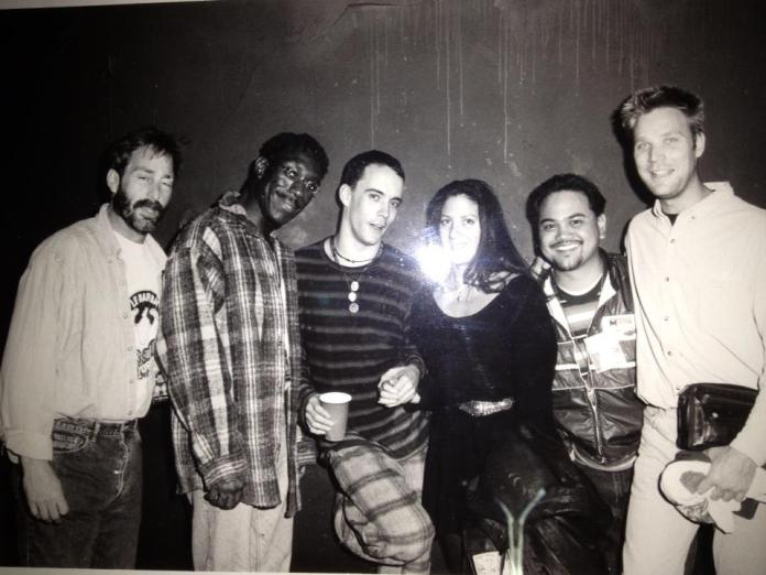 with Dave Matthews and others at the Whiskey in LA (damn flash!)
