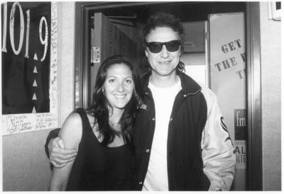 Nicole Sandler with Ray Davies (The Kinks) at KSCA/Los Angeles